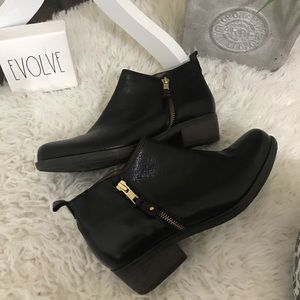 Eric Michael London black ankle booties
